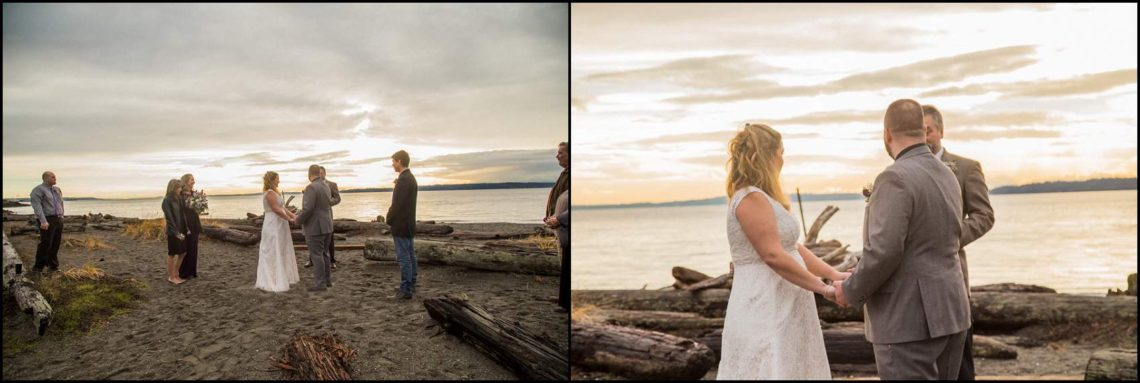 Buck Wedding 104 WATCHING SUNSETS TOGETHER |  BEACH ELOPEMENT WEDDING EDMONDS, WA