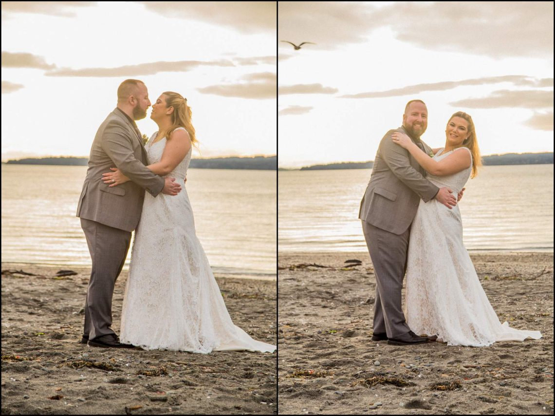Buck Wedding 139 WATCHING SUNSETS TOGETHER |  BEACH ELOPEMENT WEDDING EDMONDS, WA
