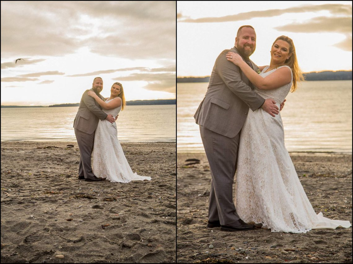 Buck Wedding 141 WATCHING SUNSETS TOGETHER |  BEACH ELOPEMENT WEDDING EDMONDS, WA