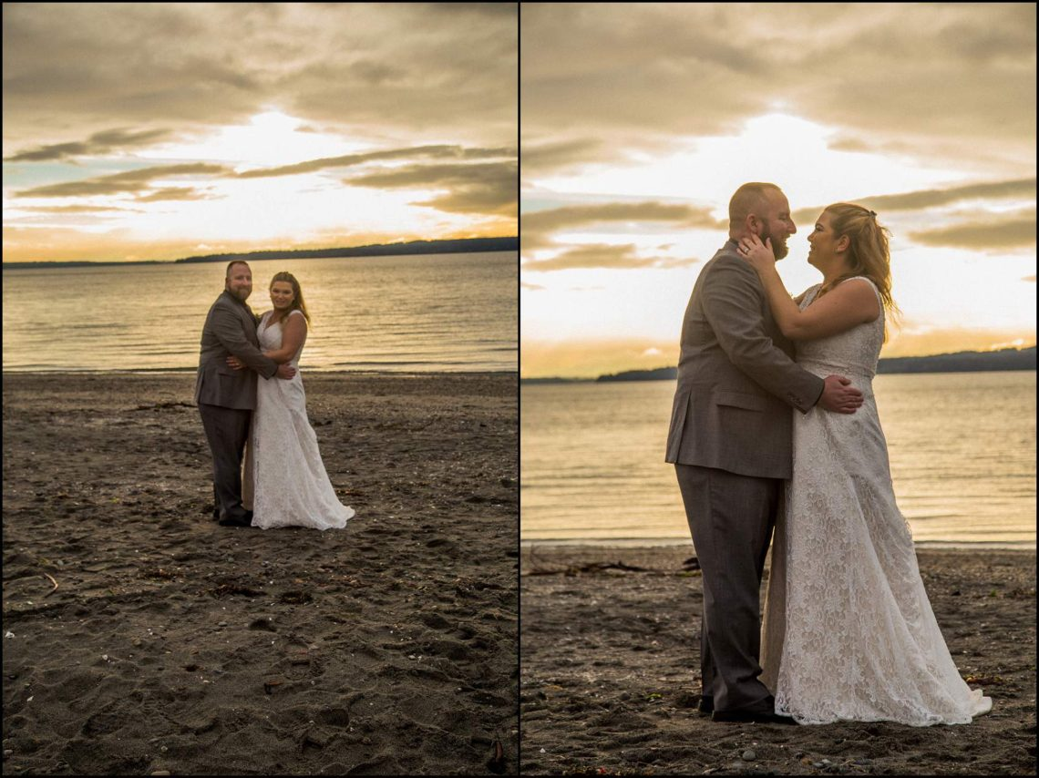 Buck Wedding 149 WATCHING SUNSETS TOGETHER |  BEACH ELOPEMENT WEDDING EDMONDS, WA