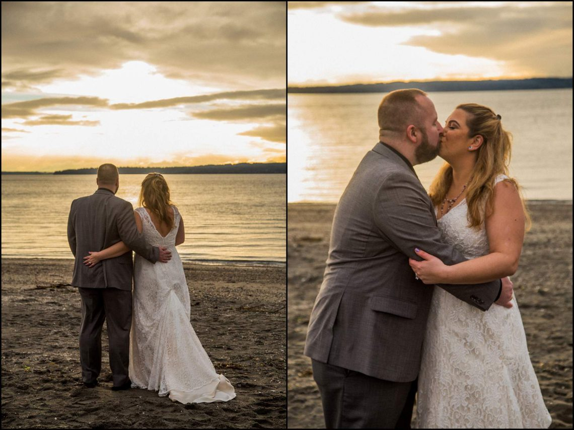 Buck Wedding 155 WATCHING SUNSETS TOGETHER |  BEACH ELOPEMENT WEDDING EDMONDS, WA