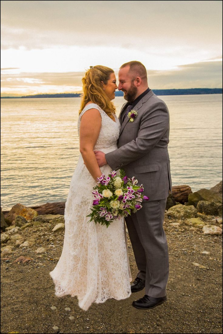 Buck Wedding 16 WATCHING SUNSETS TOGETHER |  BEACH ELOPEMENT WEDDING EDMONDS, WA