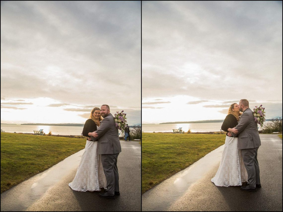 Buck Wedding 164 WATCHING SUNSETS TOGETHER |  BEACH ELOPEMENT WEDDING EDMONDS, WA
