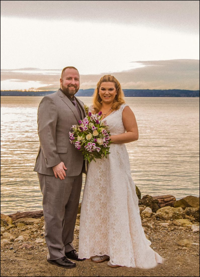 Buck Wedding 5 WATCHING SUNSETS TOGETHER |  BEACH ELOPEMENT WEDDING EDMONDS, WA