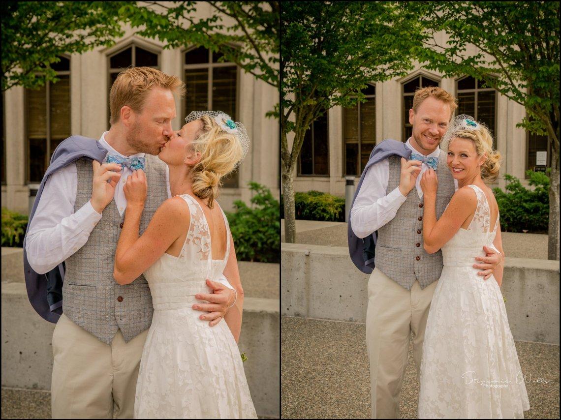 Hall Elopement026 Candace & Matthews Sweet Everett Court House Wedding Ceremony | Everett, Wa