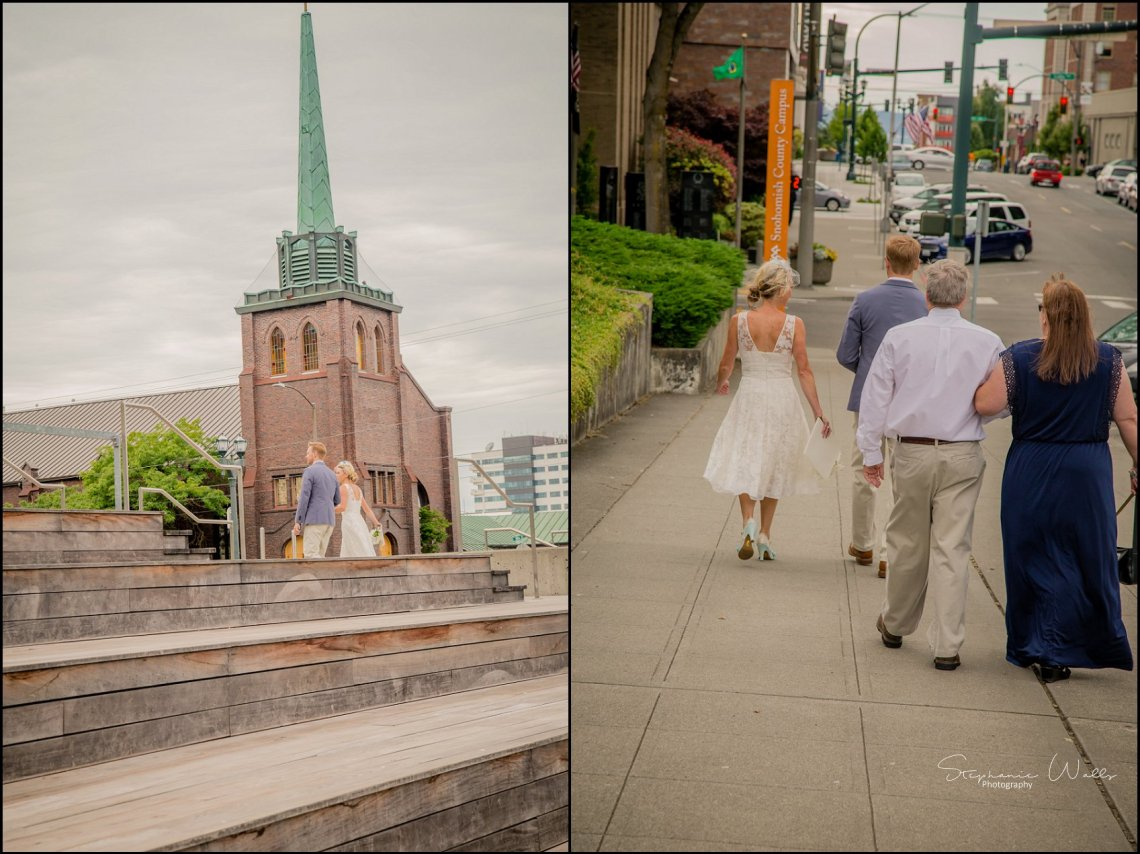Hall Elopement167 Candace & Matthews Sweet Everett Court House Wedding Ceremony | Everett, Wa