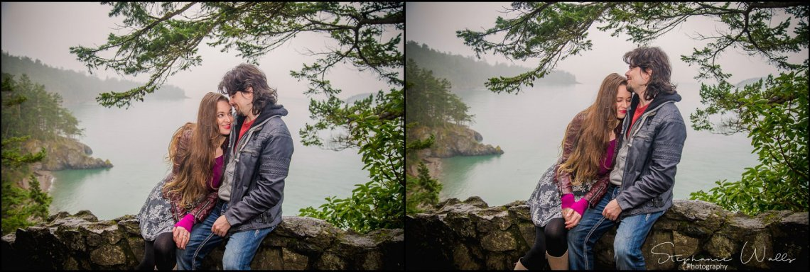 Foss 017 Rainy Engagement Session | Deception Pass Park Engagement Session | Anacortes, Wa Wedding Photographer