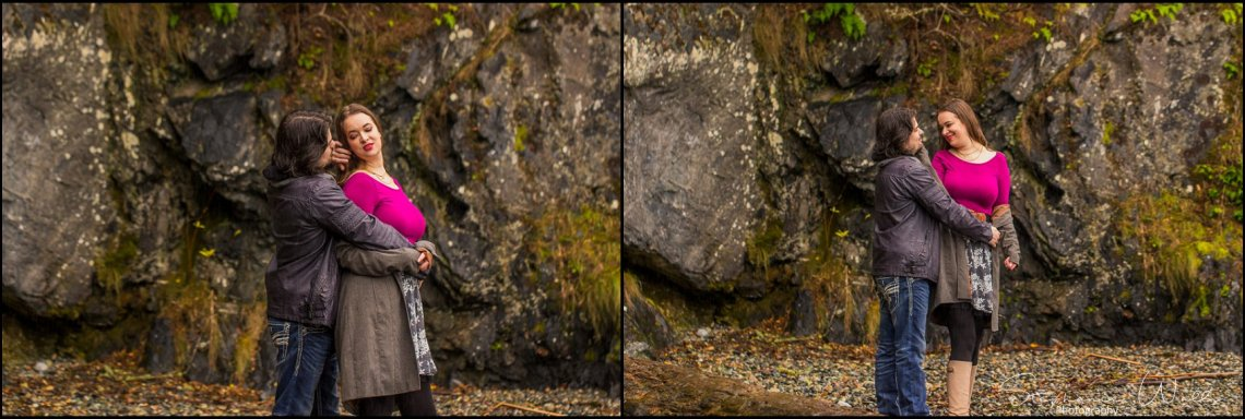 Foss 037 Rainy Engagement Session | Deception Pass Park Engagement Session | Anacortes, Wa Wedding Photographer