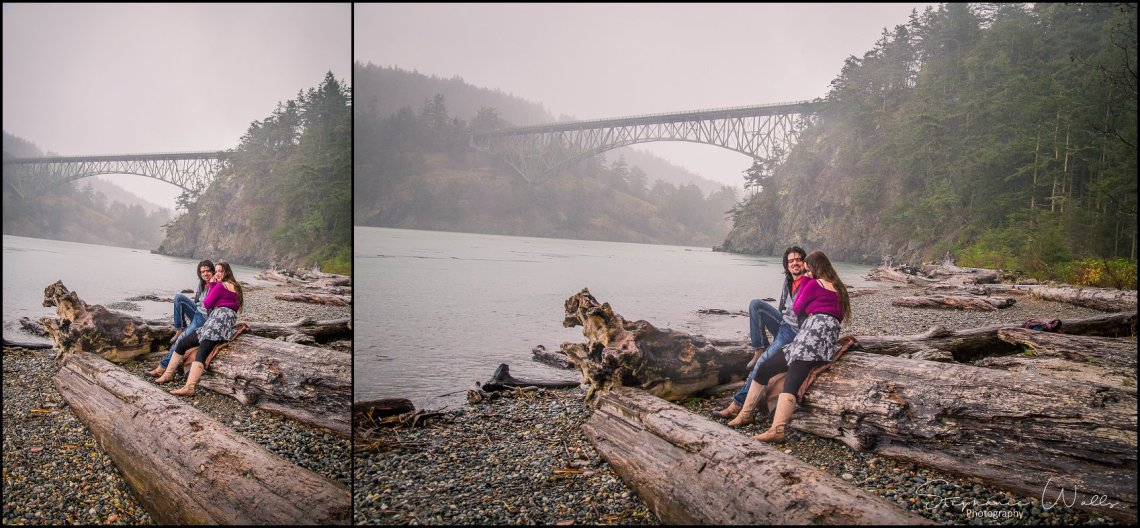 Foss 048 Rainy Engagement Session | Deception Pass Park Engagement Session | Anacortes, Wa Wedding Photographer