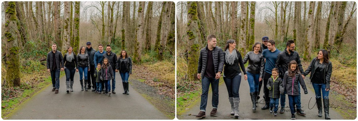 Chinchilla Family 040 Bothell Landing Park with the Riccis, Chinchilla and Flores