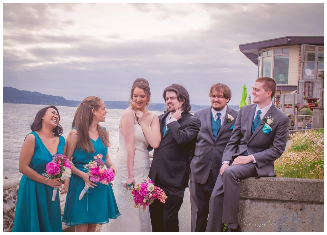 Wedding Party 053 Sky full of Colors | Saltys on Alki, Seattle   Our Lady Guadalupe | Stephanie Walls Seattle Wedding Photographer