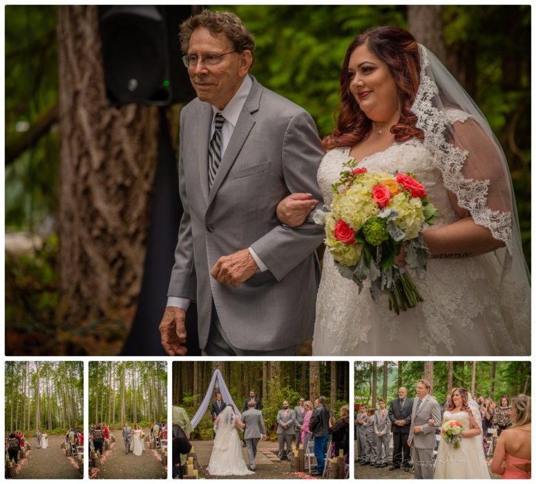 Ceremony 090 776x700 Gold Mountain Golf Course Wedding With Jenn and Rob