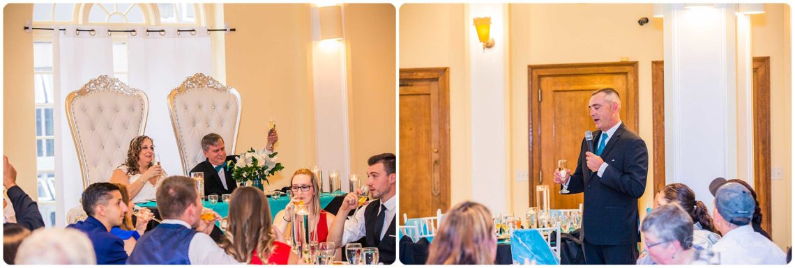 Bridals Toasts 069 Black & Teal | Monte Cristo Ballroom Wedding | Everett Wedding Photographer
