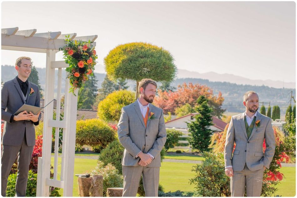 Mingling Ceremony 063 950x636 Olympic View Estates Wedding Autumn Love with Ayla and David
