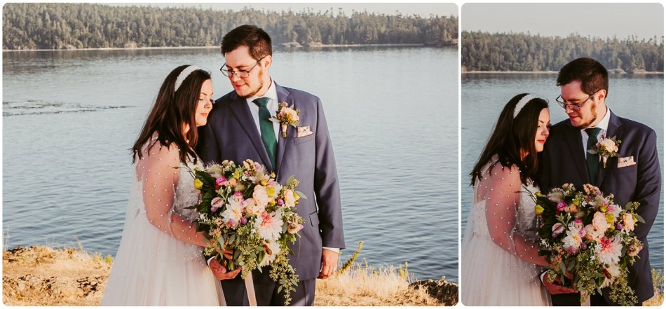 Stephanie Walls Photography 1175 950x441 Summer Deception Pass Elopement at Rosario Beach | Jacinda & Trevor
