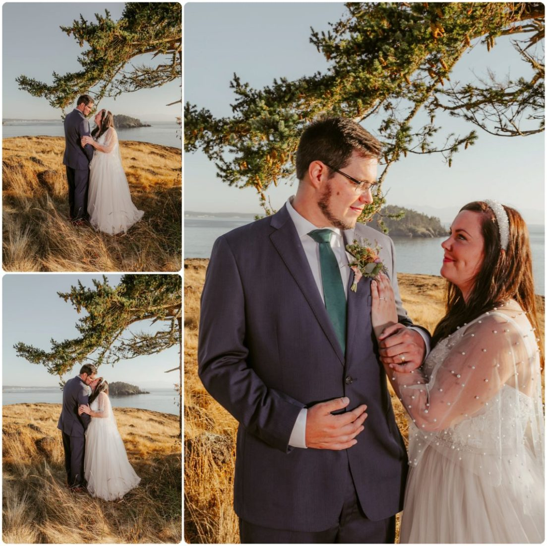 Stephanie Walls Photography 1180 scaled Summer Deception Pass Elopement at Rosario Beach | Jacinda & Trevor