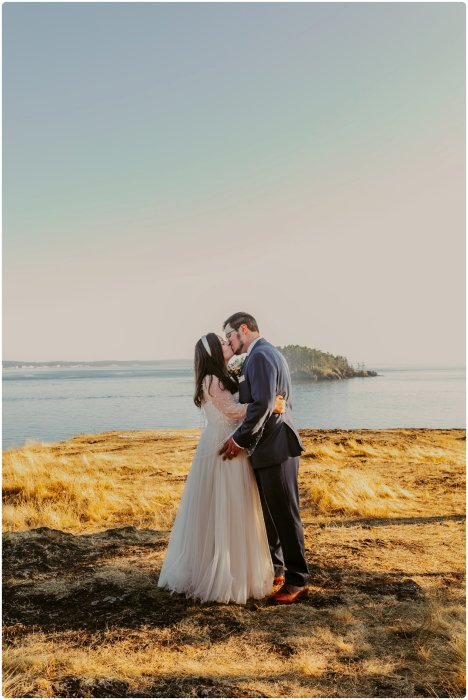 Stephanie Walls Photography 1187 468x700 Summer Deception Pass Elopement at Rosario Beach | Jacinda & Trevor