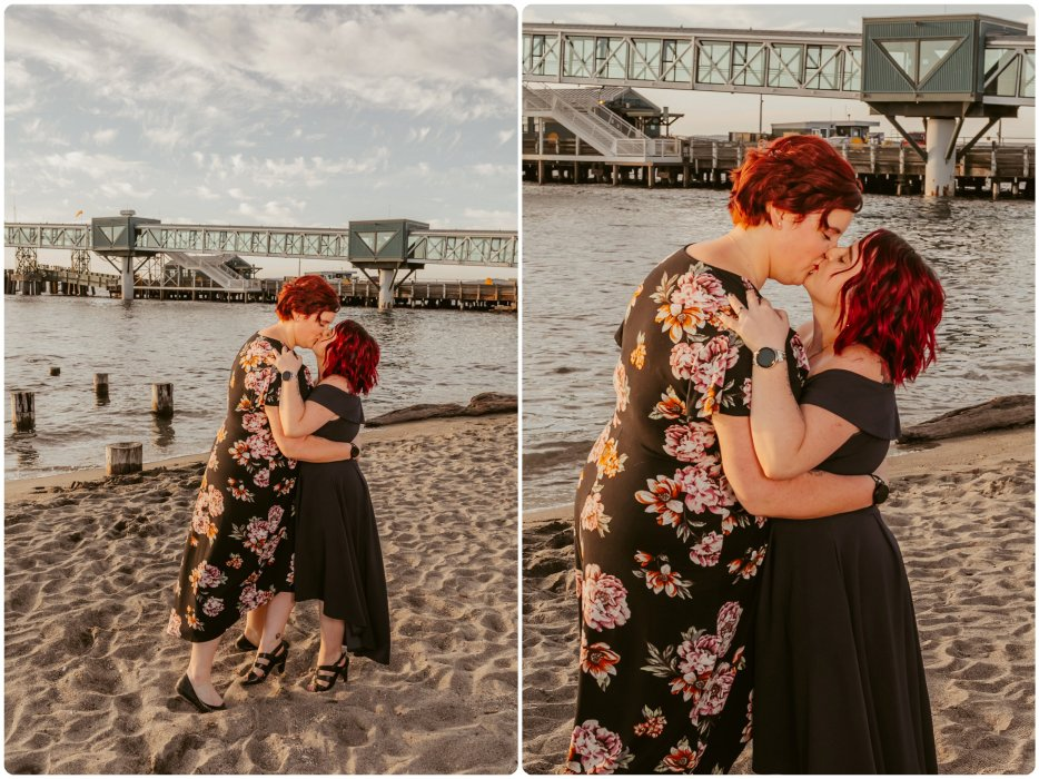 Stephanie Walls Photography 1233 934x700 Edmonds Beach Park Engagement Session with Kristy and Kat