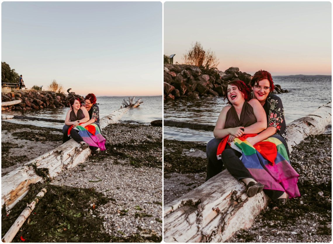 Stephanie Walls Photography 1245 scaled Edmonds Beach Park Engagement Session with Kristy and Kat