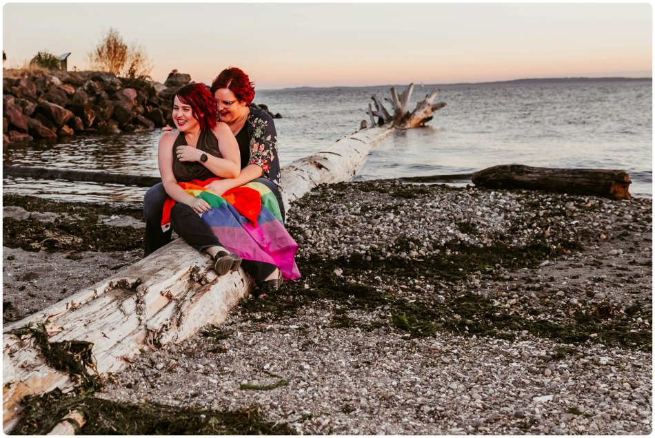 Stephanie Walls Photography 1247 950x636 Edmonds Beach Park Engagement Session with Kristy and Kat