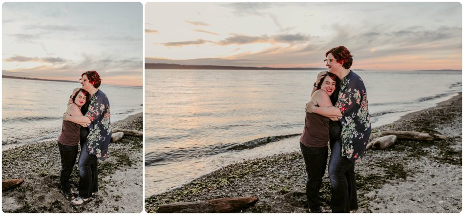 Stephanie Walls Photography 1252 950x441 Edmonds Beach Park Engagement Session with Kristy and Kat