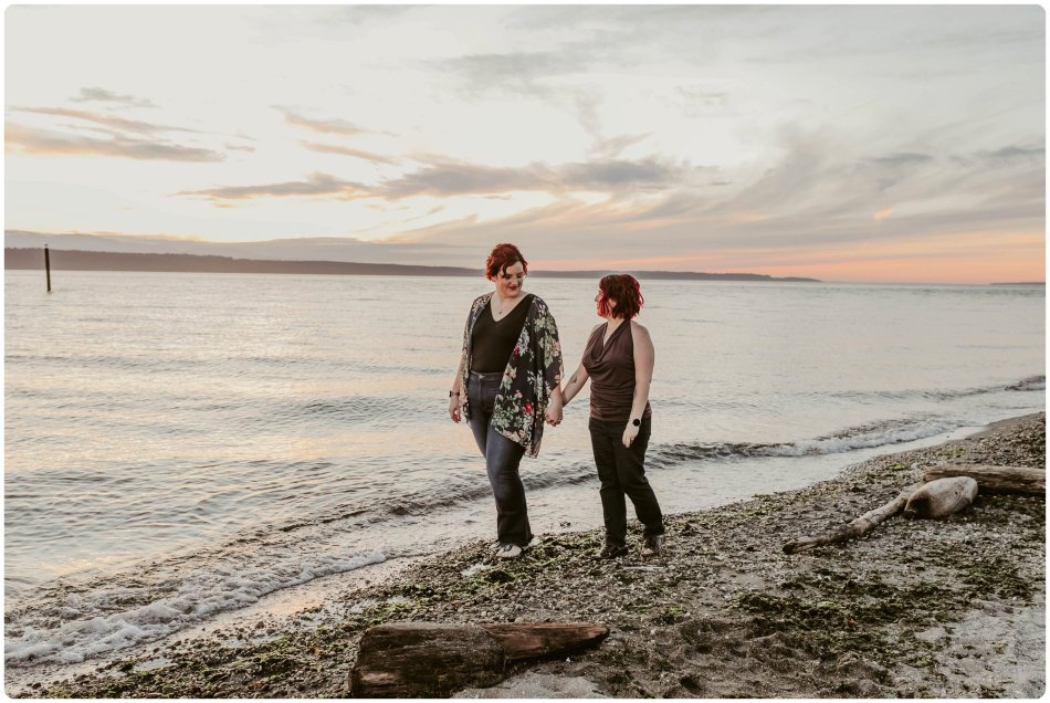 Stephanie Walls Photography 1256 950x636 Edmonds Beach Park Engagement Session with Kristy and Kat