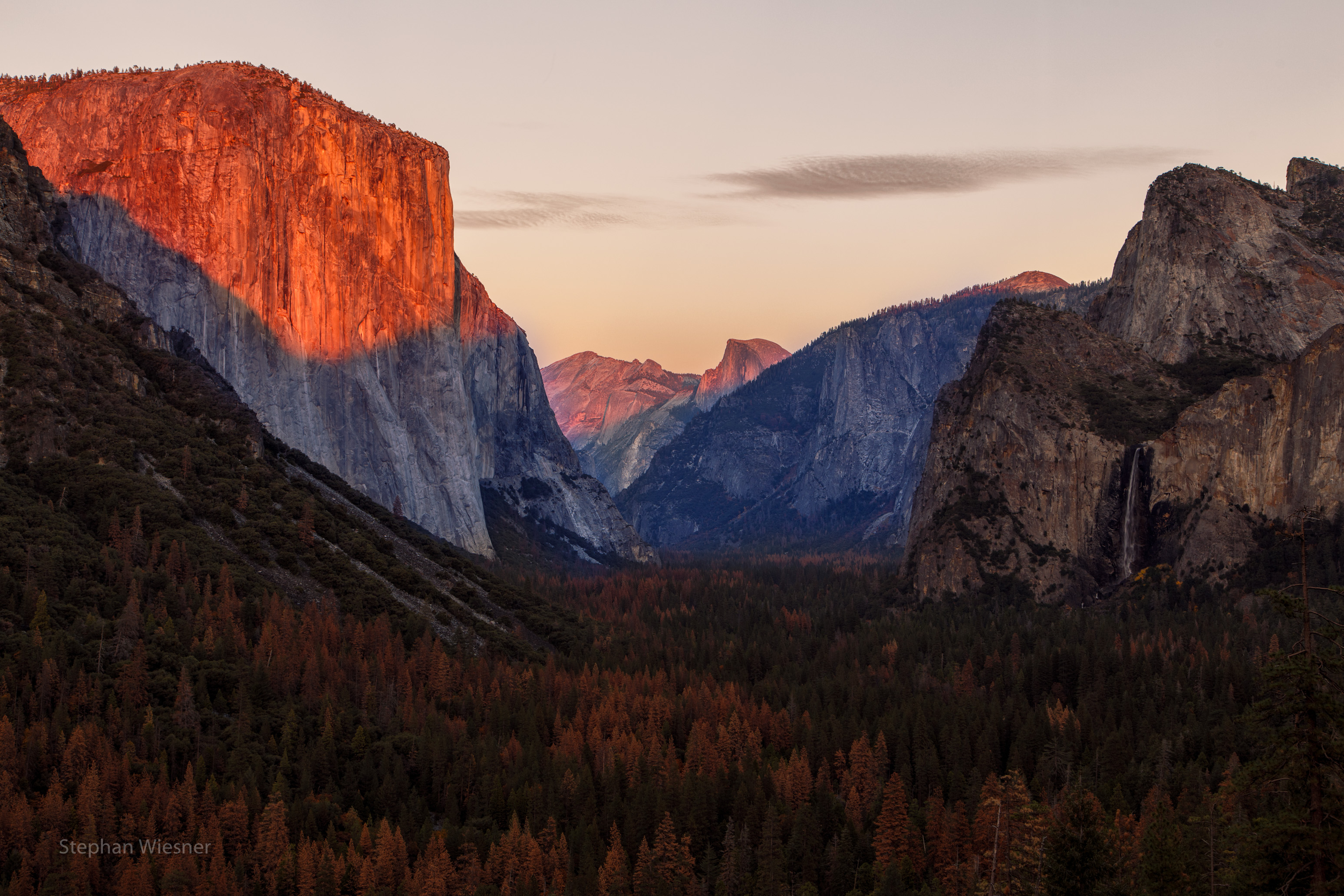 Yosemite-Valley-Tunnel-View-Sonnenuntergang
