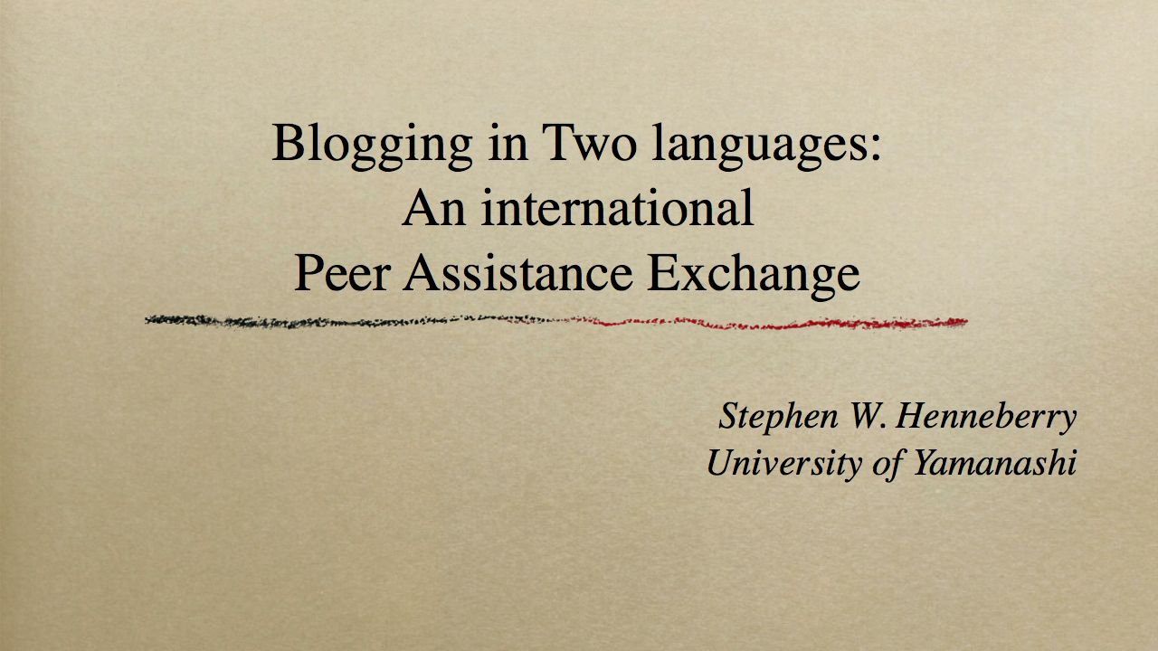 Blogging in Two Languages