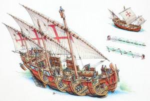Medieval Small Caravel Minecraft Project