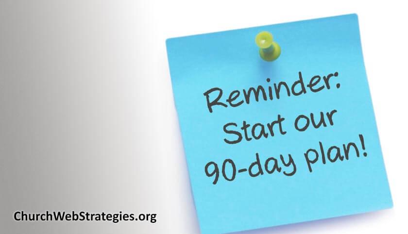 The 90-Day Church Website Plan