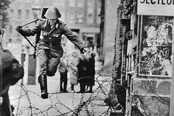 A small but symbolic jump over the Berlin (Wall) fence