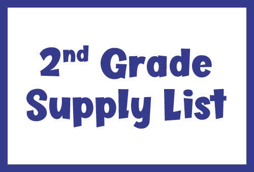 2nd grade supply list