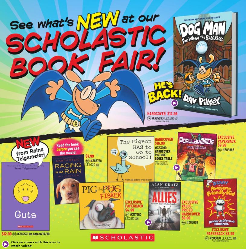 Fall 2019 Book Fair catalog cover