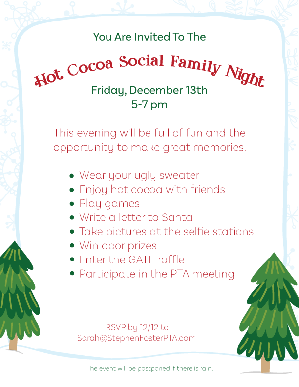 Hot Cocoa Social Invite
