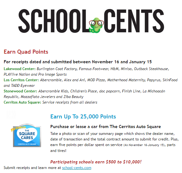 School Cents Quad Points