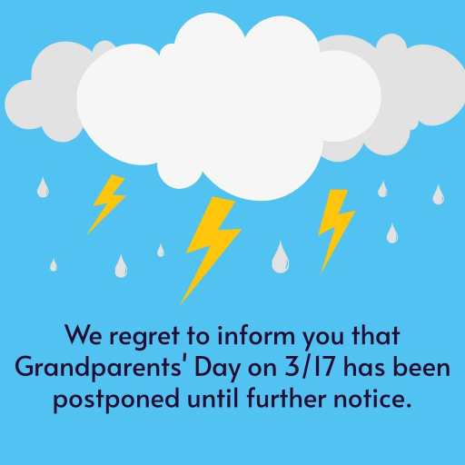 Grandparents Day Postponed