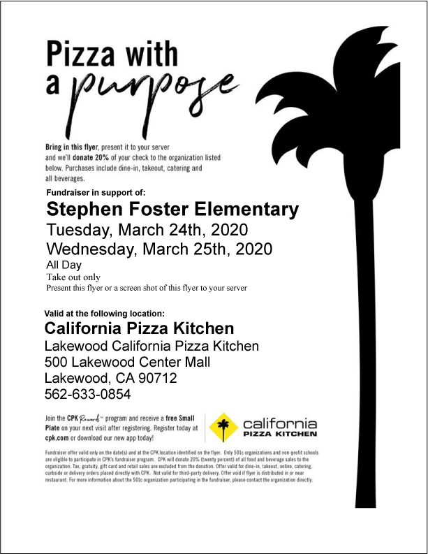 CPK March 2020 Fundraiser