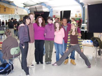Stephenie on the set