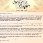 2ème lettre de Stephen King sur Stephen King's Empire