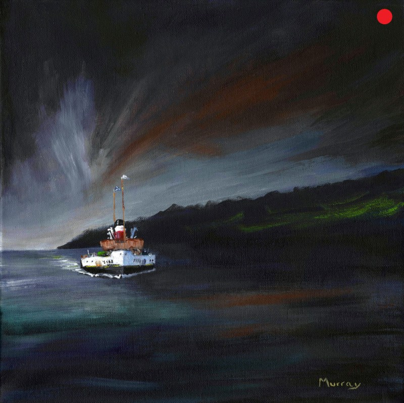 Waverley Paddle Steamer by Glasgow Artist Stephen Murray