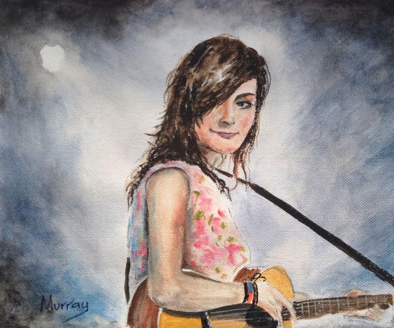 Songstress Rachel Sermanni. Portrait by Scottish artist Stephen Murray