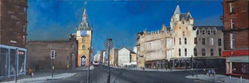 Glasgow Trongate, Glasgow, Scotland by Scottish landscape painter Stephen Murray