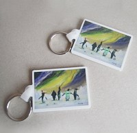 stephen murray art paralytic penguin keyring