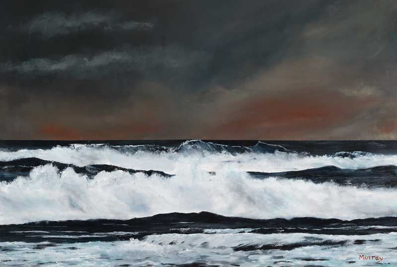 Stornoway Waters, Acrylic painting by Stephen Murray