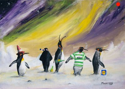Paralytic Penguins Cartoon.