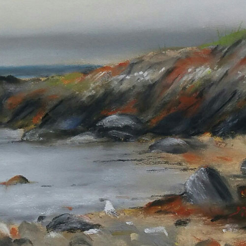 Rugged Coastline Skipness Stephen Murray Art