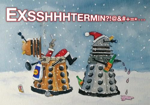 Dalek Christmas Card