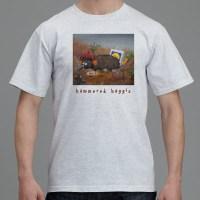 Hammered Haggis Grey T Shirt