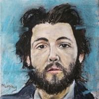 Paul McCartney painting. Stephen Murray art