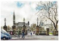 Kelvingrove Park, Glasgow University Fine Art Print